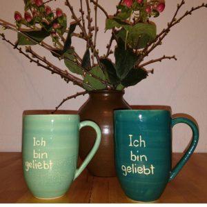 Spirituelle Keramik Becher