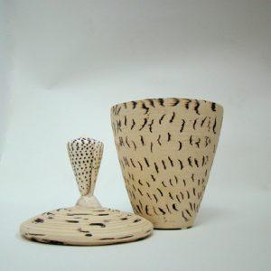 Spirituelle Keramik Muschel Hell